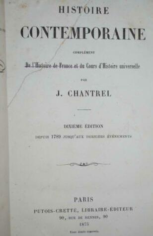 LA COMMUNE DE PARIS VUE PAR UN MANUEL SCOLAIRE CATHOLIQUE DE 1878