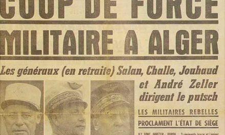 Sur le putsch des généraux  d'avril 1961