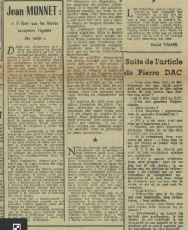 Jean Monnet et les « peuples de couleur »