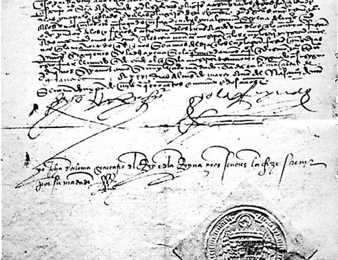 Décret de l'Alhambra du 31 mars 1492 ordonnant l'expulsion des juifs d'Espagne