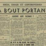 1962 – Un rituel raciste : l'insinuation sur le thème de la banque Rothschild