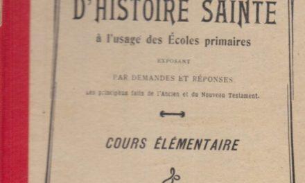 Image illustrant l'article HistoireSainte de Clio Texte