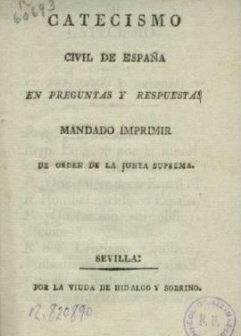 Le  catéchisme civil espagnol de 1808 (extraits)