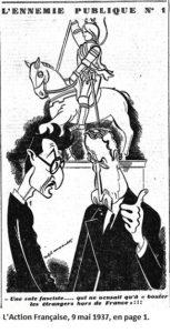 Blum caricaturé par l'Action française