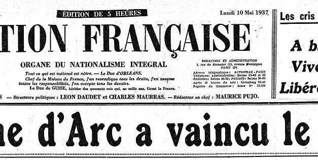 Antisémitisme sous le Front populaire – Jeanne d'Arc contre Blum