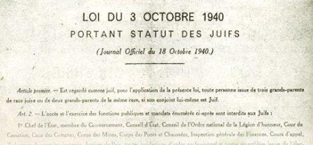L'Action Française et le  statut des juifs – 20 octobre 1940
