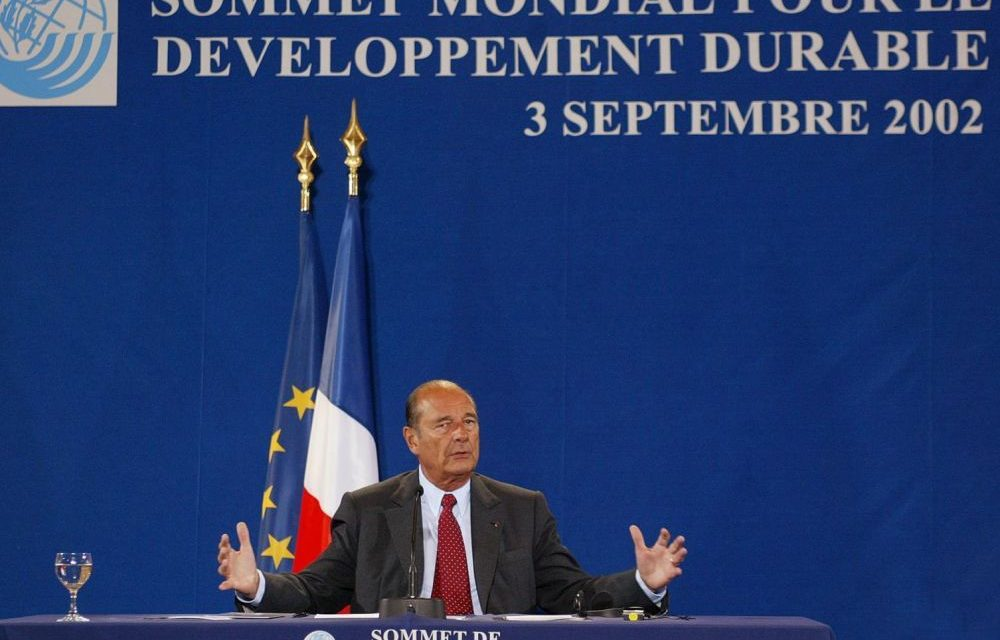 Discours de Chirac au sommet de Johannesbourg – 2002