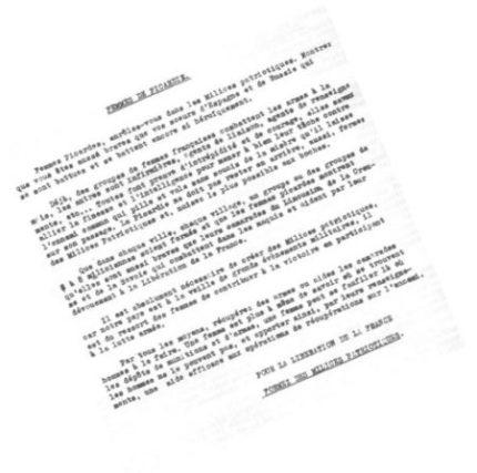 Tract communiste appelant les femmes picardes à la résistance en s'enrôlant dans des «milices patriotiques»