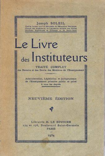 La Laïcité selon le «Code Soleil», 1934