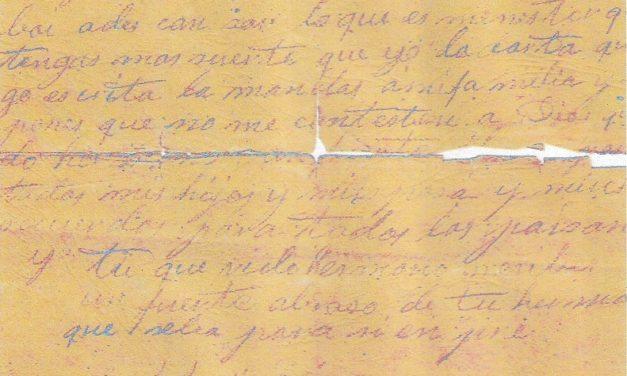 Répression franquiste : lettre d'un condamné à mort – 1939