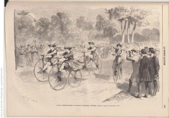 Le vélocipède : les femmes aussi ! – 1868