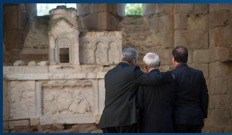 Joaquim Gauck, Robert Hébras, François Hollande, Le Monde, 5 septembre 2013