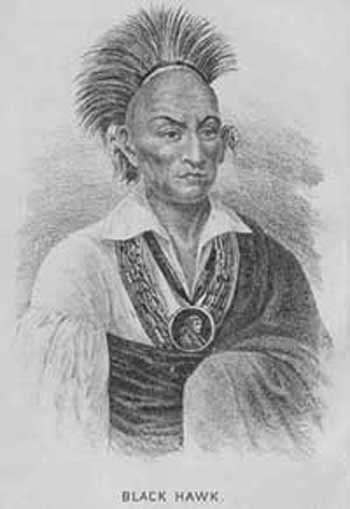 Ma-ka-tai-ma-she-kia-kiak - Black Hawk - Faucon noir - (1767-1838), chef des Sauk et Fox