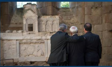 Présidents français et allemand commémorent Oradour-sur-Glane (2013)