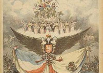 Couverture du Petit Journal pour les fêtes franco-russes en 1893 .
