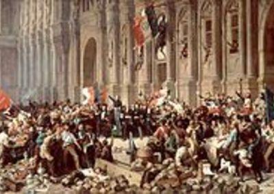 Félix Philippoteaux, Lamartine refusant le drapeau rouge devant l'Hôtel de Ville de Paris le 25 février 1848