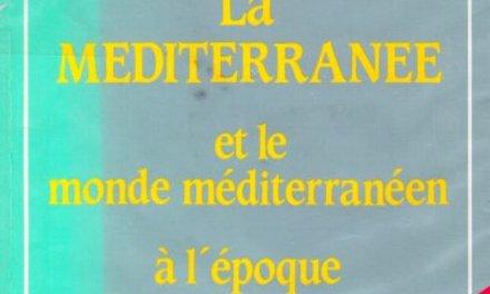 Fernand Braudel, La Méditerranée, Paris, 1946 (couverture de l'édition de 1966).