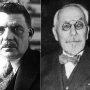 Édouard Herriot, Président de la Chambre des députés et Jules Jeanneney, Président du Sénat