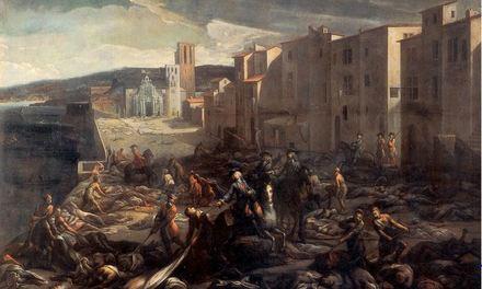 La peste de Marseille à la Tourette, tableau de M. Serre, musée Atger (Montpellier)