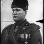 [Reproduction d'un portrait peint de Mussolini ] : [photographie de presse] / Agence Meurisse