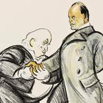 Le marquis Garroni et Benito Mussolini