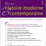 Revue d'histoire moderne et contemporaine, n°54-4bis, 2007.