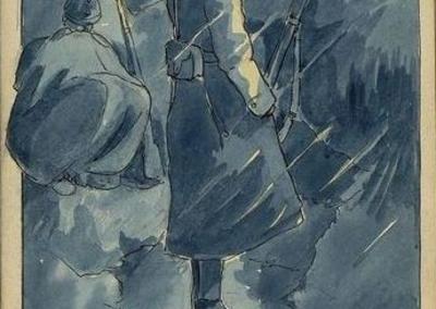 [Dessin humoristique évoquant la vie dans les tranchées : Archives départementales du Pas-de-Calais