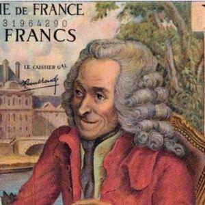 Voltaire : détail d'un billet de 10 francs français (1964-1973)
