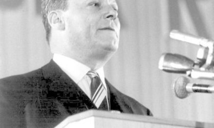 Willy Brandt, maire de Berlin, candidat SPD de 1961 au poste de chancelier